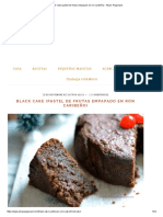 --Black Cake (Pastel de Frutas Empapado en Ron Caribeño)