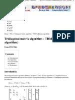 Tri Diagonal Matrix Algorith..