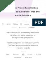DevTeamSpace Agile Process Part 1 Project Specification