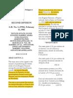 Ramirez vs. Vda. de Ramirez
