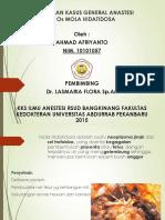 Laporan Kasus General Anastesi