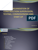 2. Organisation of Construction Supervision Testing Commissioning and Start Up