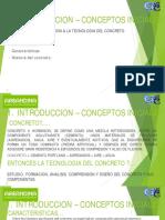 01 Introduccion, Conceptos Iniciales I- Concretos