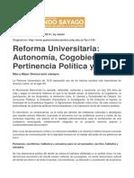Gumersindo - Reforma Universitaria Autonomía, Cogobierno y Pertinencia Política y Social