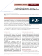 Chemotherapy in Head and Neck Cancers Summary of Recommendations and a Critical Review of Clinical Practice Guidelines 01