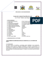 """PLAN DE CAPACITACIÓN DEL AIP 5127 """"M.J.O"""" -VENTANILLA"""