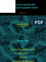 InteractionDisorder-TopologicalQuantumMatter