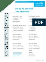 Unicef Educa Cancion Derechos Infancia