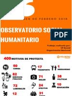 Principales causas de las protestas en 2018