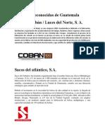 Empresas Reconocidas de Guatemala