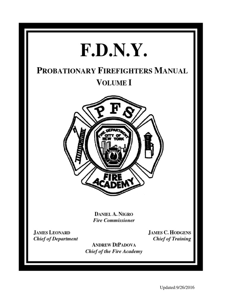 Join Probie Manual[1] | New York City Fire Department | Prohibition Of Drugs