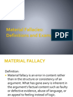 Material Fallacies Shortened