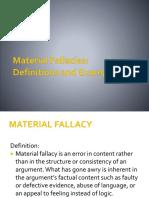 Material Fallacies Shortened