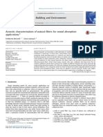 Acoustic Characterization of Natural Fibers for Sound Absorption Applications
