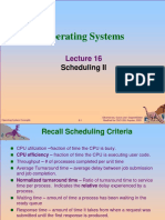 Lec16 Scheduling II