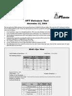 IIFT 2009 Analysis_revise