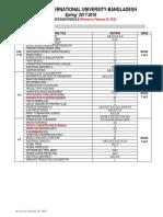 Updated Undergraduate Mid Term Exam Schedule of Spring 2017 18 Feb 26