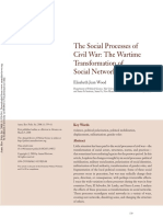 'the Social Processes of Civil War the Wartime Transformation of Social Networks