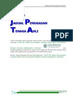 Bab 10-Jadual Tenaga Ahli (DED Air Baku Lebong Dan Bingin Kuning)