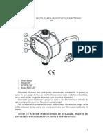 Instructiuni de Utilizare a Presostatului Electronic