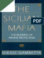 Diego Gambetta-The Sicilian Mafia - Inglese
