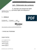 I – SIGILS _ Dictionary of Occult - Dictionnaire Des Symboles
