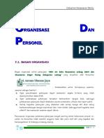 Bab 7 Organisasi Dan Personil (DED Air Baku Lebong Dan Bingin Kuning)