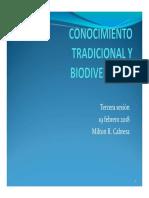 Tercera Sesion Conocimiento Tradicional Biodiversidad
