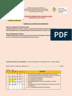 Planificacion Academica Segundo Lapso