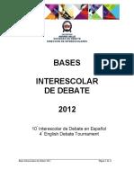 Bases Interescolar de Debate