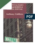 Giddens Anthony - El Capitalismo Y La Moderna Teoria Social