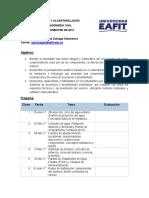 Programa Acueductos y Alcantarillados (2017-1)