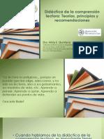 Didactica de La Comprension Lectora Teorias Principios Recomendaciones