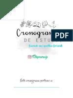 Cronograma 2018 - Felipe Araujo0