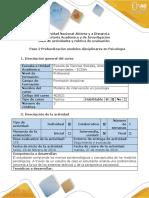 Guía de Acitividades y Rúbrica de Evaluación - Paso 2 - Profundización Modelos Disciplinares en Psicología