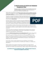 Clasificación o Grupos Sociales Según Sus Ingresos Promedios Peru