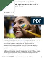 Protesto Cresce, Mas Manifestante Mantém Perfil de Alta Renda - 14-03-2016 - Poder - Folha de S