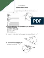 Elementos y Angulos de La Circunferencia