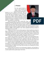 Biografi of Joko Widodo