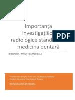 Radiologie in Medicina Dentara
