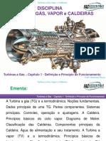Aula 1 - Turbinas a Gás - Definição e Principios de Funcionamento