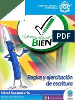 Cuadernillo de Ortografía SECUNDARIA y CENS 2017