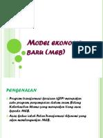 1- Model Ekonomi Baru