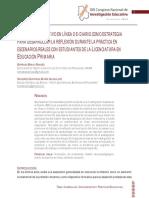 El Diario Interactivo en Línea o E-diario Como Estrategia Para Desarrollar La Reflexión... (Comie, 2015)