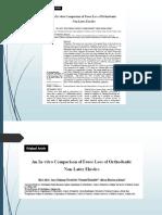 Analisis in Vitro de perdida de fuerza de los elasticos que no contienen latex vs los que contienen latex