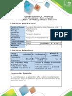 Guía de Actividades y Rúbrica de Evaluación - Paso 1 - Reconocimiento Del Espacio Para El Trabajo. Contextulización