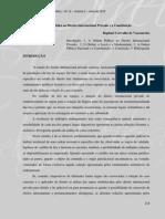 Ordem Pública e Direito Internacional Privado e a Constituição