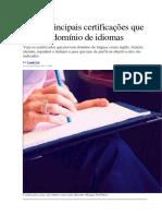 As 17 Principais Certificações Que Provam Domínio de Idiomas