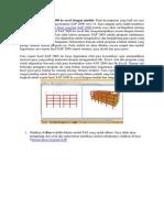 Cara Export Hasil SAP 2000 Ke Excel Dengan Mudah