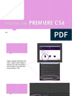 How to Use PREMIERE sim g4